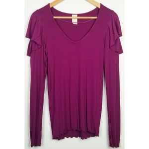 We the Free large purple On Rewind layering top